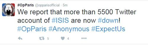 """Anonymous """"điểm mặt"""" 3.824 tài khoản Twitter của tổ chức Hồi giáo IS ảnh 2"""