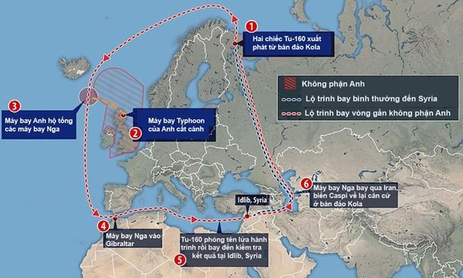Máy bay ném bom chiến lược Nga đã bay... vòng quanh châu Âu để tấn công IS tại Syria ảnh 2
