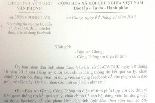 """Vụ """"Bị phạt vì nói xấu lãnh đạo tỉnh An Giang"""": Chê một câu, 16 cơ quan cùng vào cuộc ảnh 1"""