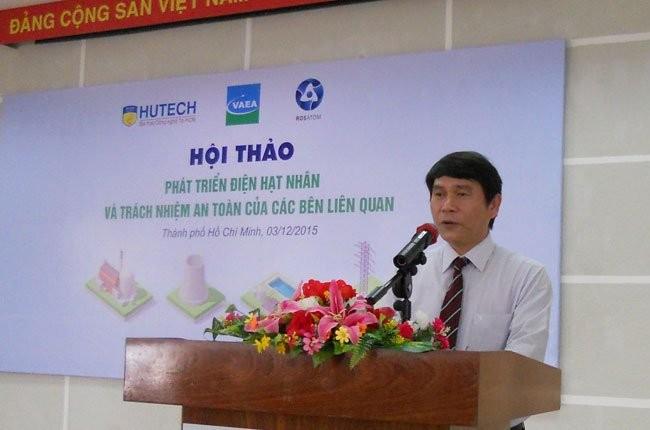 ông Hoàng Anh Tuấn, Cục trưởng Cục Năng lượng Nguyên tử, Bộ Khoa học và Công nghệ