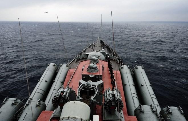 Nga điều tuần dương hạm tên lửa Varyag đến Syria diệt IS ảnh 1