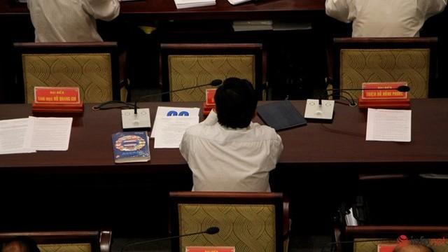 """1/3 """"ghế trống"""" khi đại biểu HĐND TP.HCM biểu quyết các tờ trình ảnh 8"""