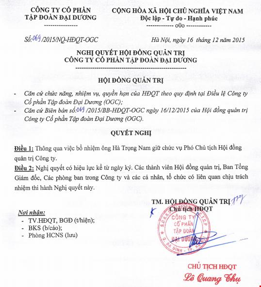 Ông Hà Trọng Nam được bổ nhiệm vị trí Phó chủ tịch HĐQT Ocean Group ảnh 1
