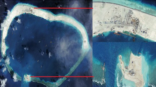 Báo Philippines: TQ đang xây cảng tàu ngầm ở đá Vành Khăn ảnh 1