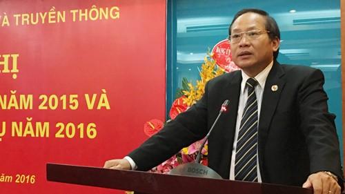 Thứ trưởng Trương Minh Tuấn phát biểu tại Hội nghị.