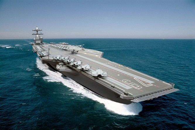 Video quá trình chế tạo siêu tàu sân bay lớp Gerald R. Ford ảnh 1