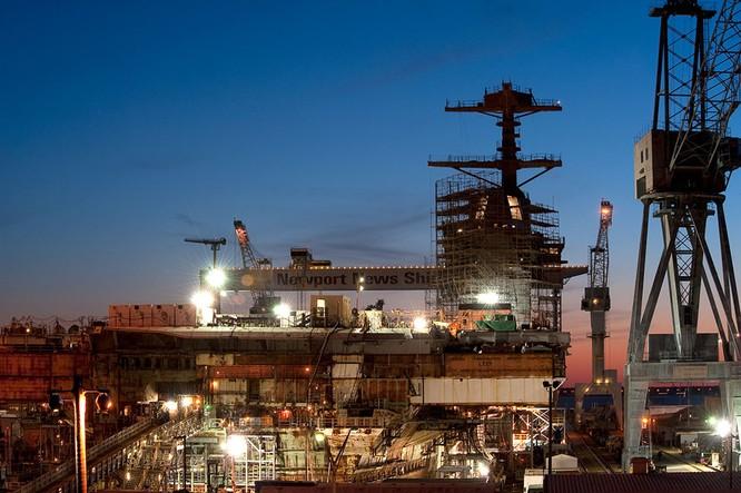 Video quá trình chế tạo siêu tàu sân bay lớp Gerald R. Ford ảnh 4