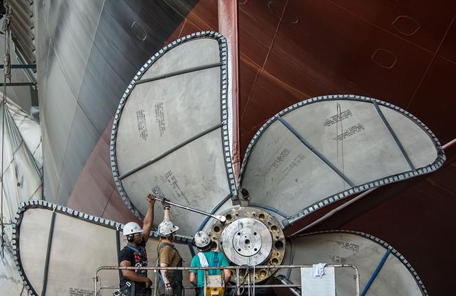 Video quá trình chế tạo siêu tàu sân bay lớp Gerald R. Ford ảnh 10