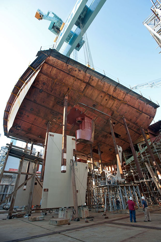 Video quá trình chế tạo siêu tàu sân bay lớp Gerald R. Ford ảnh 17