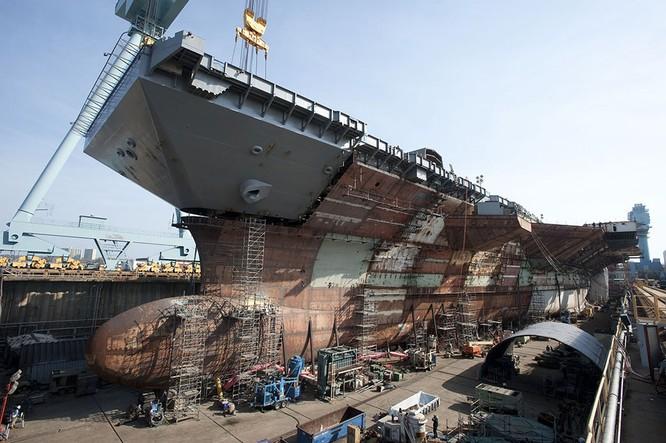 Video quá trình chế tạo siêu tàu sân bay lớp Gerald R. Ford ảnh 19