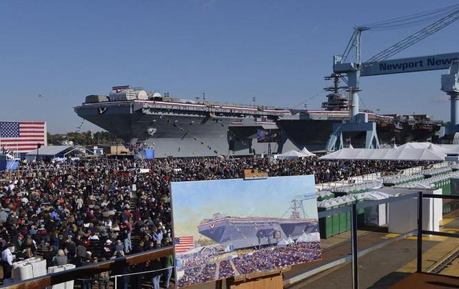 Video quá trình chế tạo siêu tàu sân bay lớp Gerald R. Ford ảnh 27