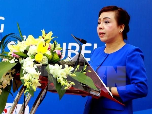 Bộ trưởng Bộ Y tế Nguyễn Thị Kim Tiến. (Ảnh: TTXVN/Vietnam+)