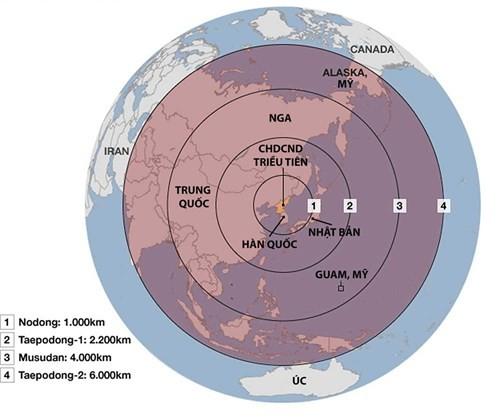 Thế lực đáng gờm của tên lửa Triều Tiên ảnh 1
