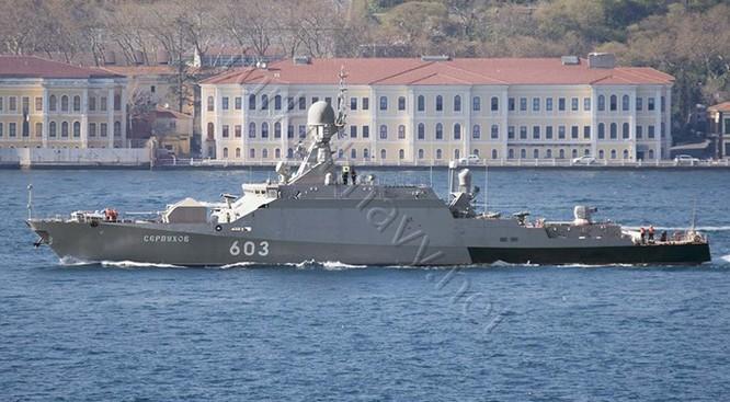 Video tàu chiến Nga lại phóng tên lửa Klub vào quân khủng bố ở Syria ảnh 1