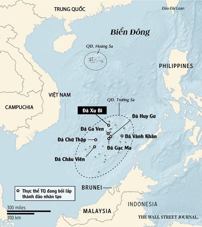 Phi cơ quân sự Trung Quốc hạ cánh phi pháp xuống đá Chữ Thập ảnh 1