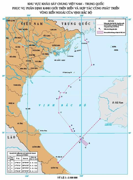 Việt - Trung kết thúc khảo sát chung khu vực thỏa thuận cửa Vịnh Bắc Bộ ảnh 1