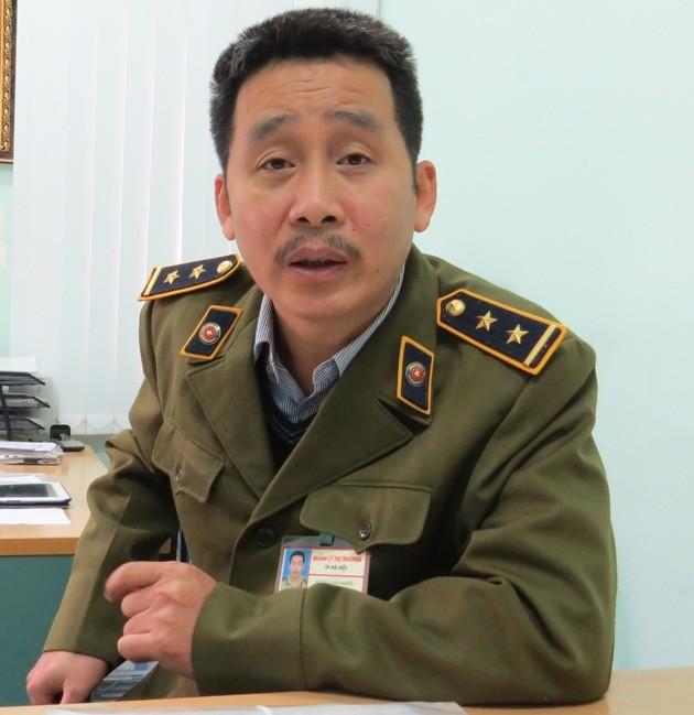Ông Hoàng Đại Nghĩa - đội trưởng Đội QLTT số 14, Hà Nội