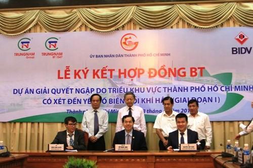 Ký hợp đồng gần 10.000 tỉ chống ngập cho TP HCM ảnh 1