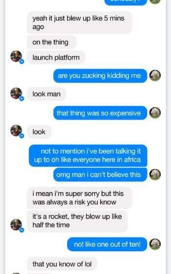 Hé lộ đoạn tin nhắn giữa Elon Musk và Mark Zuckerberg 5 phút sau vụ nổ SpaceX ảnh 2
