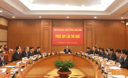 Ban Chỉ đạo Cải cách tư pháp Trung ương họp phiên họp thứ nhất ảnh 1