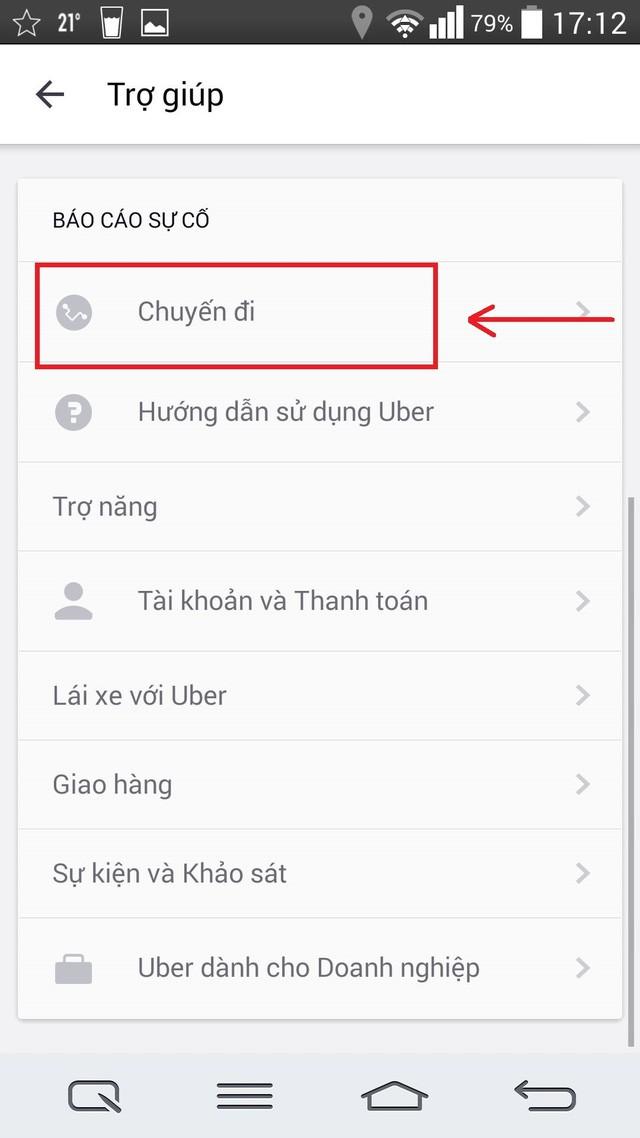 Làm gì khi gặp lỗi thanh toán trên ứng dụng Uber? ảnh 3
