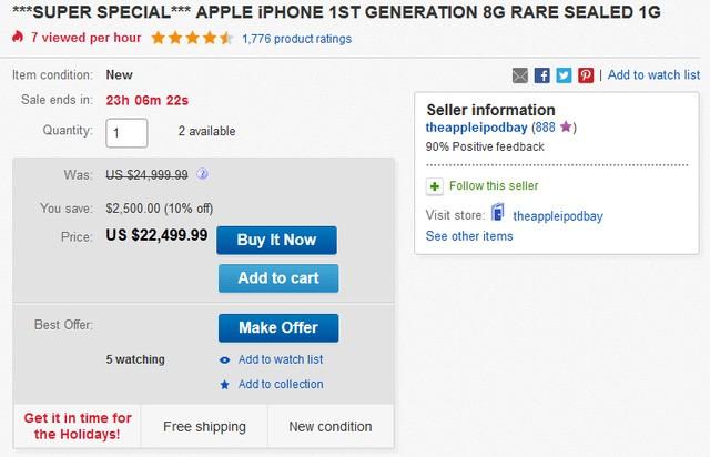 Xuất hiện iPhone đời đầu, còn nguyên seal được bán với giá 22.000 USD ảnh 1