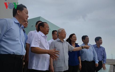 Tổng Bí thư làm việc với lãnh đạo chủ chốt tỉnh Bạc Liêu ảnh 1