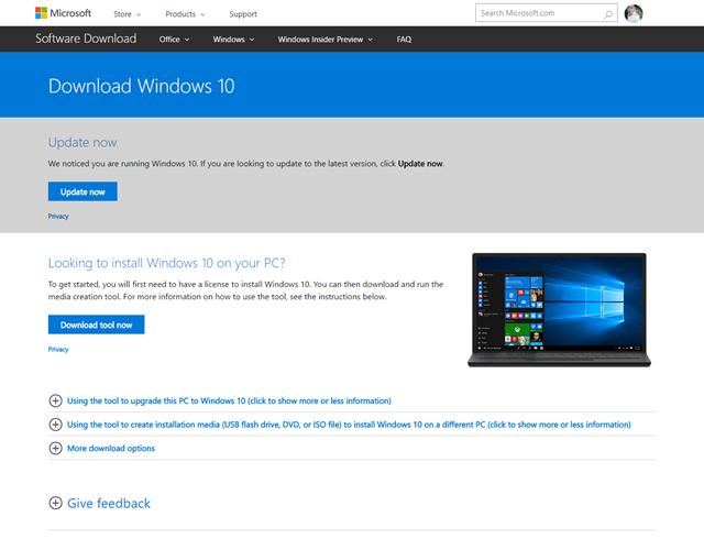 """Những cách giúp bạn sở hữu gói cài đặt Windows 10 Creators Update """"chính chủ"""" ảnh 5"""