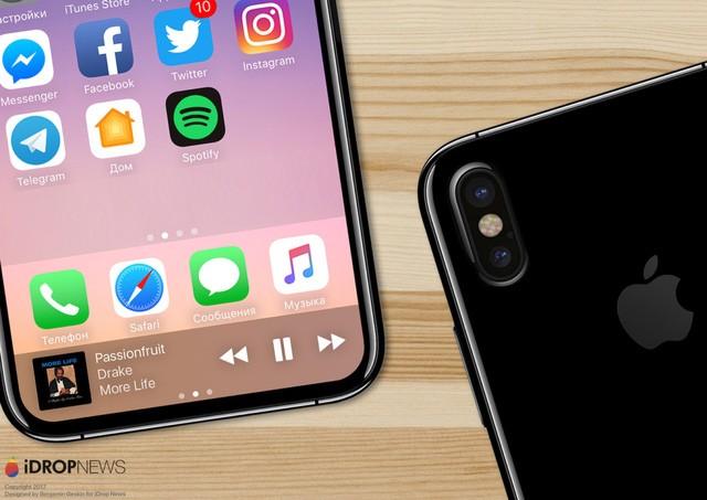 iPhone 8: Camera kép xếp dọc phía sau, màn hình chiếm trọn mặt trước? ảnh 1