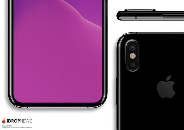 iPhone 8: Camera kép xếp dọc phía sau, màn hình chiếm trọn mặt trước? ảnh 3