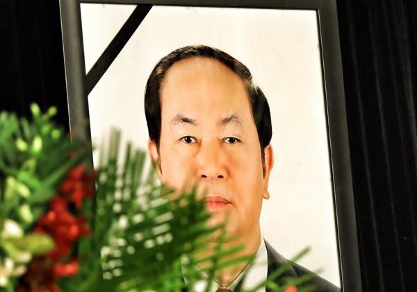 Thủ bút của lãnh đạo Đảng, Nhà nước tại Quốc tang Chủ tịch nước Trần Đại Quang ảnh 1