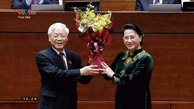 Tong bi thu Nguyen Phu Trong duoc bau giu chuc Chu tich nuoc hinh anh 4