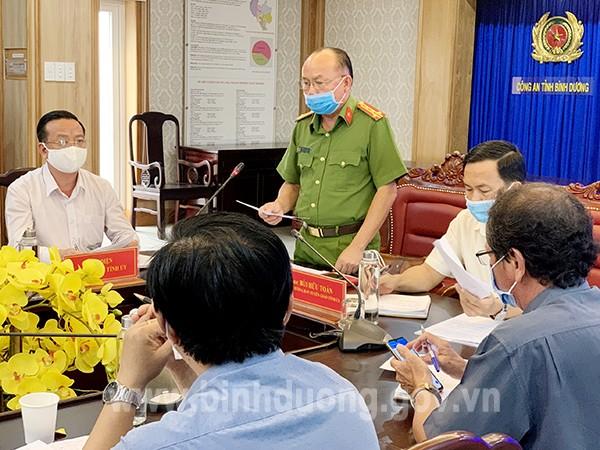 Đại tá Trần Văn Chính – Phó Giám đốc Công an tỉnh thông tin về Dự án 43ha