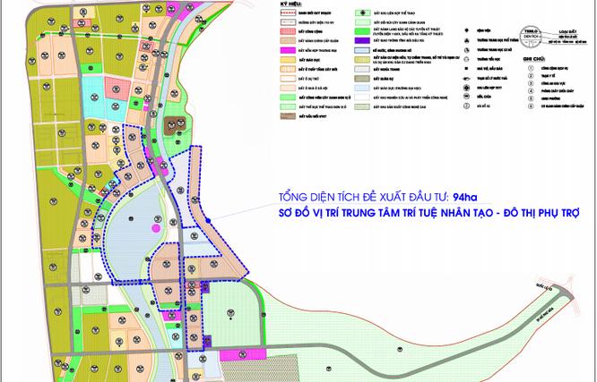 Dự án Trung tâm trí tuệ nhân tạo – Đô thị phụ trợ (Nguồn: Sở Kế hoạch và Đầu tư tỉnh Bình Định)