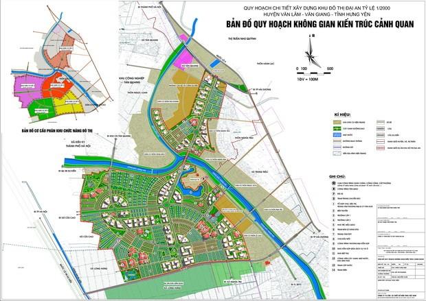 Bản đồ quy hoạch dự án Đại An (Nguồn: hungyen.gov.vn)