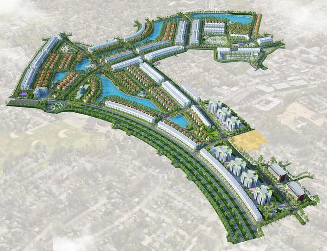 Phối cảnh dự án Khu đô thị Nam Minh Phương (Nguồn: Licogi 14)