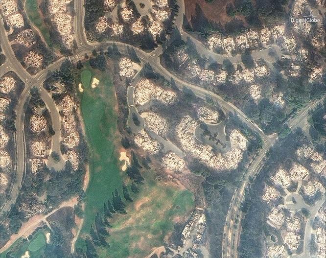 Thảm họa cháy rừng ở California nhìn từ vệ tinh ảnh 12