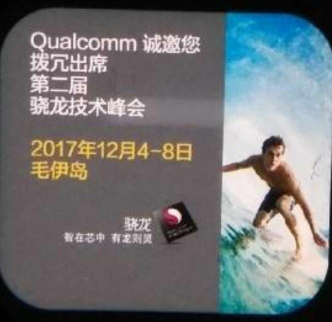 Hình ảnh về Snapdragon 845 mà Qualcomm đã vô tình để lộ ra trước đó. Nguồn: wccftech