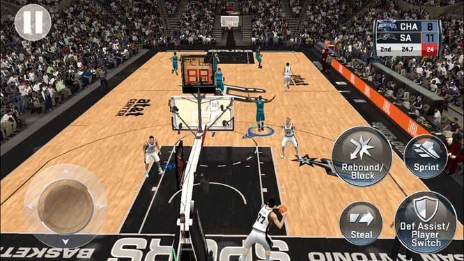 Hình ảnh của NBA 2K18 khá đẹp so với một tựa game di động. Nguồn: revu
