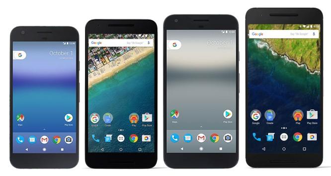 Những mẫu điện thoại Nexus và Pixel
