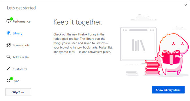 Firefox Quantum sẽ hướng dẫn cho bạn cách sử dụng tính năng mới