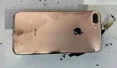 iPhone 7 Plus cháy rụi sau khi bị rơi ảnh 3
