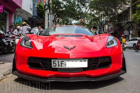 'Quỷ đỏ' Chevrolet Corvette C7 Z06 giá 7 tỉ đồng dạo phố Sài Gòn ảnh 2