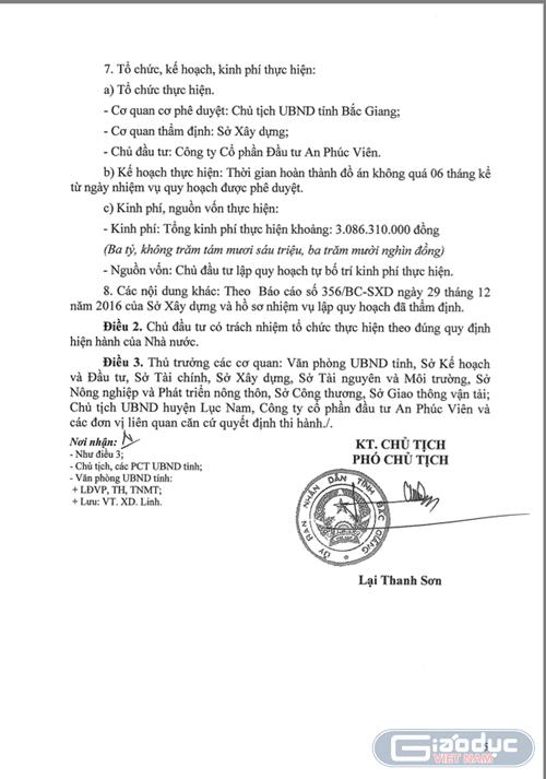 Bắt giữ người để phản đối dự án Công viên nghĩa trang An Phúc Viên (Bắc Giang) ảnh 2