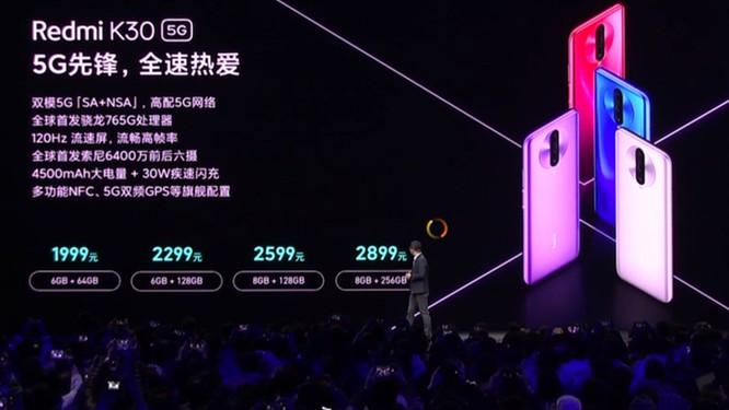 Redmi K30 5G chính thức được ra mắt ảnh 1