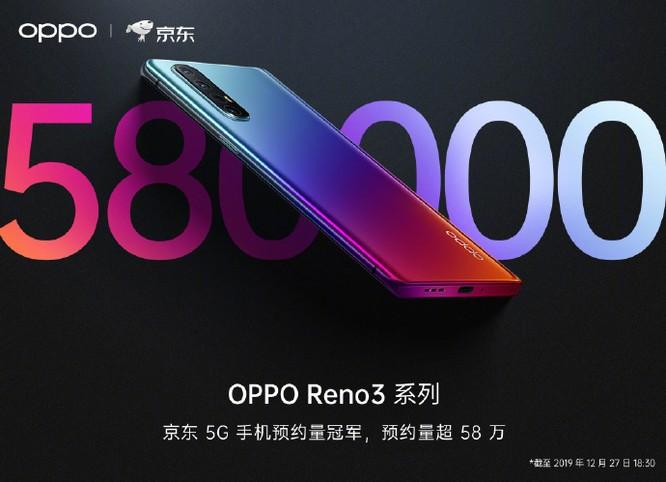 Oppo Reno 3 đạt số lượng đặt mua khủng trong ngày đầu ra mắt ảnh 1