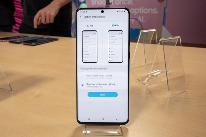 Một trong những tính năng nổi bật nhất của Samsung Galaxy S20 không thể sử dụng ở độ phân giải tối đa ảnh 1