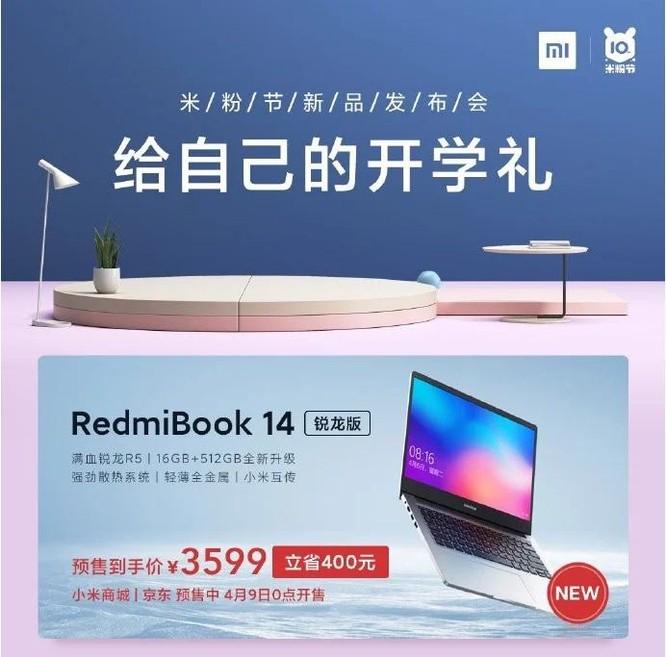 Xiaomi cho ra mắt mẫu laptop mới, giá rẻ cấu hình mạnh ảnh 1