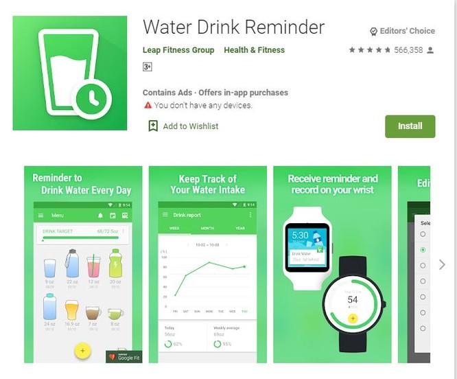 Top 5 ứng dụng nhắc nhở uống nước trên smartphone ảnh 2