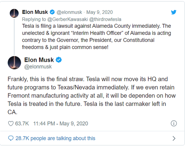 """Elon Musk """"phát điên"""" vì nhà máy Tesla chưa được hoạt động trở lại ảnh 1"""